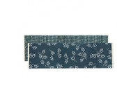 LivingStyles Olive Grove & Cotswold Fabric Table Runner, 150cm, Blue