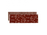 LivingStyles Olive Grove & Cotswold Fabric Table Runner, 150cm, Terracotta