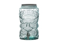 LivingStyles Tiki Glass Beverage Dispenser with Spout