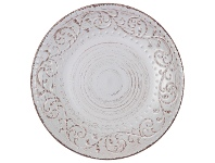 LivingStyles Dane Hill Stoneware Dinner Plate, Cream