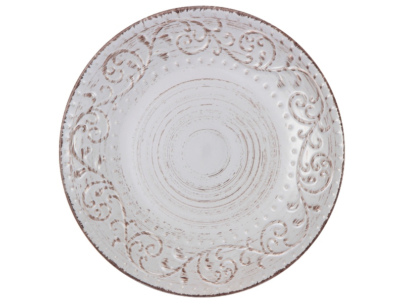 Dane Hill Stoneware Dinner Plate, Cream