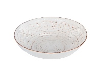 LivingStyles Dane Hill Stoneware Salad Bowl, Cream