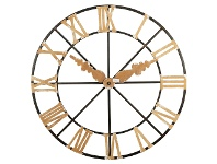 LivingStyles FakeClock Metal Round Wall Decor, 118cm