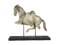 LivingStyles Graysen Equine Figurine on Stand