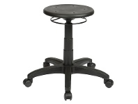 LivingStyles State Industrial Stool, Round Seat, Ring Handle