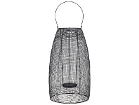 LivingStyles Hyde Metal Mesh Lantern, Large, Black
