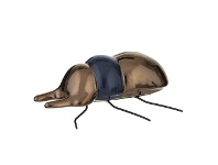 LivingStyles Insecto Ceramic Beetle Sculpture, Stag Beetle