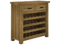 LivingStyles Hansen Pine Timber Wine Rack