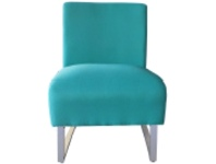 Jessy Fabric Outdoor Lounge Chair, Teal