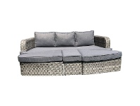 LivingStyles Cosham 4 Piece Wicker Outdoor Lounge Set / Day Bed