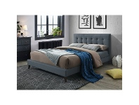 LivingStyles Paradox Fabric Bed, Queen, Charcoal