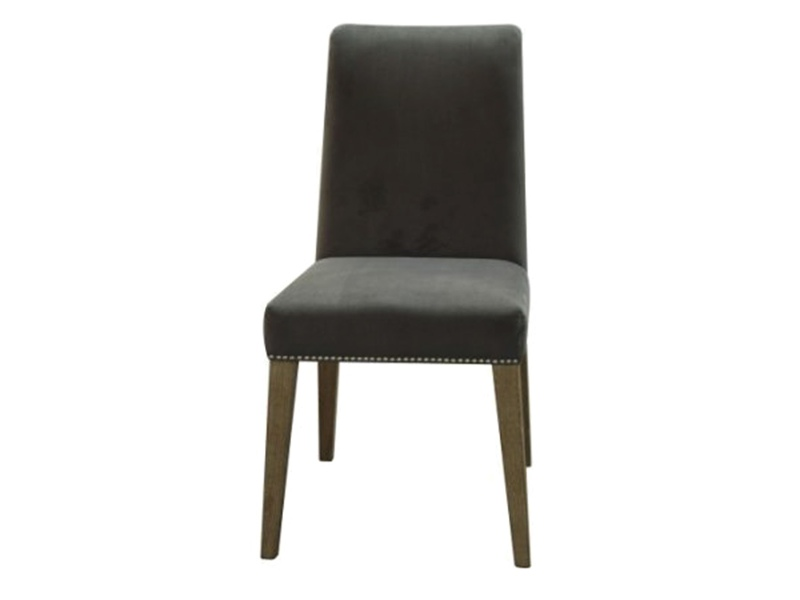 Nowa Velvet Fabric Dining Chair, Frost Grey