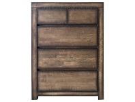 LivingStyles Stanmore Wooden 5 Drawer Tallboy