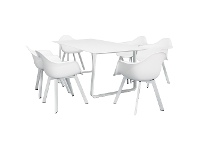 LivingStyles Bauer 7 Piece Outdoor Dining Table Set, 200cm