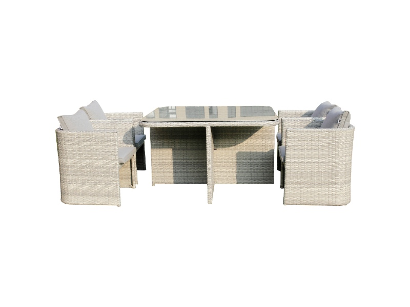 Coteau 5 Piece Wicker Outdoor Dining Set, 120cm