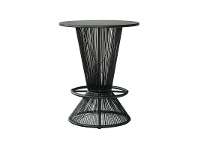 Waikiki Commercial Grade Indoor/Outdoor Round Aluminium Top Bar Table, Black