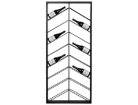 LivingStyles Chevron Commercial Grade Metal Wine Rack