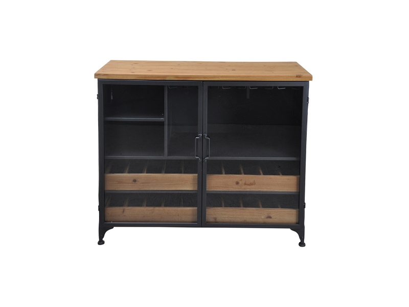 Taylor Commercial Grade Industrial Iron Low Wine Cabinet