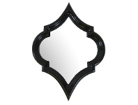 LivingStyles Marsa Wall Mirror, 60cm, Black