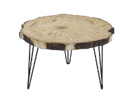 Rockaway Faux Trunk Slice Outdoor Coffee Table, 80cm