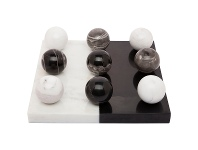 LivingStyles Hillcrest Marble Tic Tac Toe Game