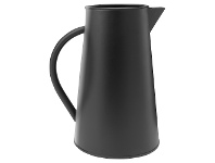 LivingStyles VTWonen Etna Metal Pitcher with Handle, Small, Black