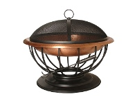 LivingStyles Ember Iron Round Outdoor Fire Pit