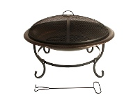 LivingStyles Tinder Iron Round Outdoor Fire Pit