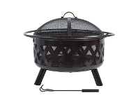 LivingStyles Campfire Iron Round Outdoor Fire Pit