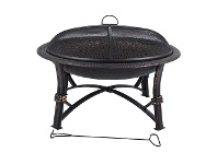 LivingStyles Glow Iron Round Outdoor Fire Pit