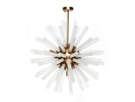 Atomic Glass & Metal Pendant Light, Medium