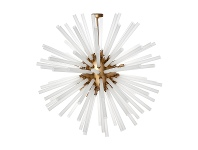 Atomic Glass & Metal Pendant Light, Large