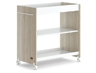 LivingStyles Boori Neat Wooden Changing Table, Barley White / Oak