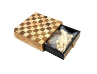 LivingStyles Bouvet Wooden Chess Game