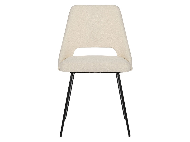 Eva Commercial Grade Boucle Fabric Dining Chair, Cream