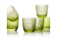 IVV Sixties 6 Piece Glass Tumbler Set, Green