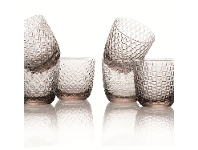 IVV Sixties 6 Piece Glass Tumbler Set, Smoke
