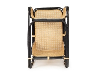 LivingStyles Cleo Rattan Baby Changing Table, Black