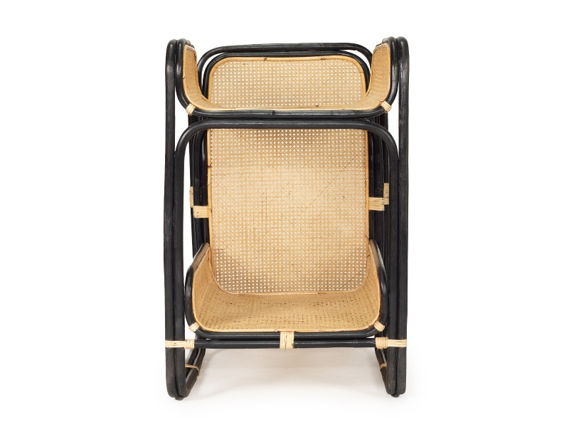 Cleo Rattan Baby Changing Table, Black