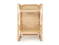 LivingStyles Cleo Rattan Baby Changing Table, Natural