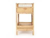 LivingStyles Sofia Rattan Baby Changing Table