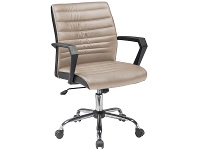LivingStyles Marque PU Leather Office Chair, Brown / Black