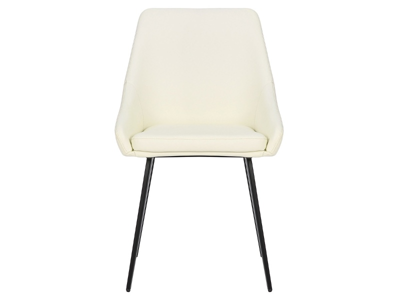 Shogun Commercial Grade Faux Leather Dining Chair, Cream