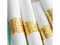 Living & Giving Leaf Napkin Rings Gold Assorted Styles