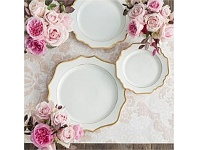 Living & Giving Florasion Dinner Plate White 27cm
