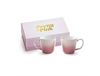 Living & Giving Pretty In Pink Teacup Ste of 2 300ml