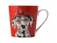 Living & Giving Christopher Vine Mini Mob Costume Party Mug Leo Red