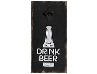 Living & Giving Magnetic Wall Bottle Opener Drink Beer 20x40cm