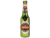 Living & Giving Magnetic Wall Bottle Opener Green Bottle 10x40cm