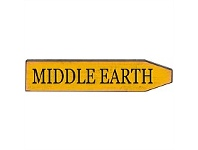 Living & Giving Middle Earth Metal Street Sign Embossed 45cm